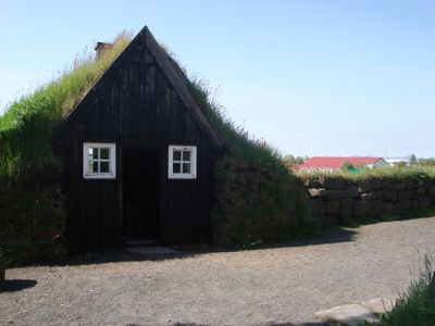 Arbaer Museum: An old turf house