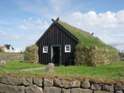 Arbaer Museum: Arbaer Church made of turf and timber