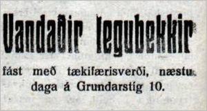 Mbl.255tbl.03.11.1929_Legubekkir_sala