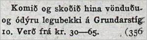 Vísir342tbl.15.12.1929_legub-sala-verð