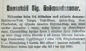 Dansskóli Sigurðar Guðmundssonar