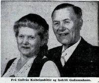 Indriði Guðmundsson og Guðrún Kolbeinsdóttir, mynd úr viðtali Mbl. 29.6.1960