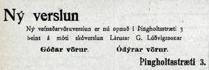 Auglýsing, Mbl. 10.06.1919
