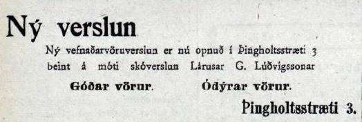 Auglýsing Mbl. 10.06.1919