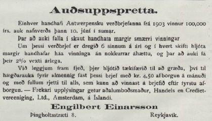 Audsuppspretta Lögrétta 08.04.1914