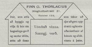 Augl. frá Finni O. Thorlacius, í Lögréttu,  08.10.1913