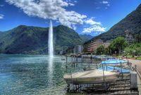 Lugano í héraðinu Ticino í Sviss