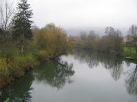 Áin Krka í Sloveníu