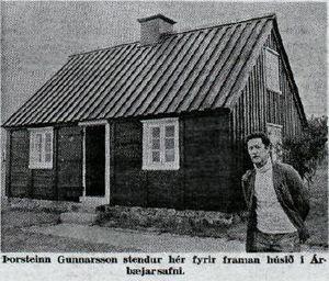 Þingholtsstræti 9 í Árbæjarsafni. Morgunblaðið 2. ágúst 1973