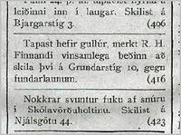 Visir25tbl_2601_1918_Tapast_gullur