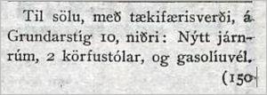 Vísir228tbl.02.10.1926_Husgogn_sala