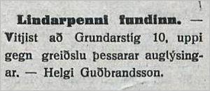 Althydubl.147tbl.20.06.1933_Lindarpenni-fundinn