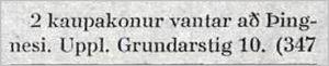 Vísir160tbl.15.06.1933_Kaupakonur-augl