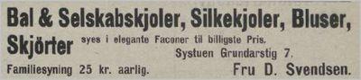 Systuen - Fru D. Svendsen