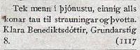 Klara Benediktsdóttir