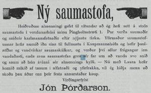 Saumastofa hjá Jóni Þórðarsyni