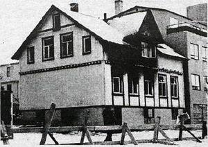 Þingholtsstræti 28, bruni 1977 Althydubladid