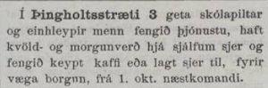 Auglýsing í Ísafold, 23.09.1893
