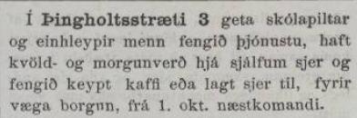 Skolapiltar isafold 23.09.1893
