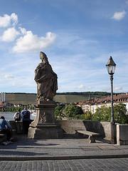 Stytta af St. Kilian á gömlu brúnni, Alte Mainbrücke, Würzburg
