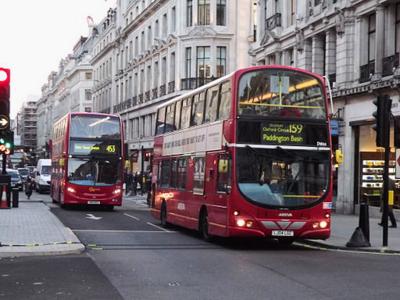 Tveggja hæða strætisvagn í London