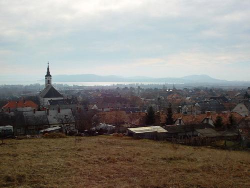 Balatonfüred við Balatonvatn í Ungverjalandi